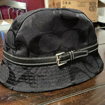 Vtg Authentic Coach Bucket Hat Black Excellent Photo