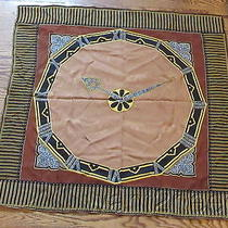 Vtg Authentic Must De Cartier Silk Scarf 34