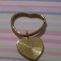 Vtg Avon Goldtone Heart Keychain Photo