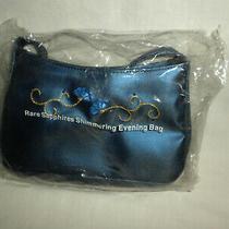Vtg Avon Rare Sapphires Shimmering Blue Evening Bag 2000 New Photo
