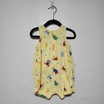 Vtg Baby Gap One Piece Dinosaurs Yellow Infant Boy Romper Summer Soft Play Theme Photo