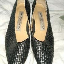 Vtg Balenciaga  Pumps Shoes Black Size 8 Photo
