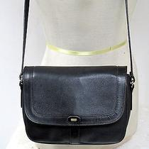 Vtg Bally Black Leather Saddle Shoulder Bag Purse Medium Size Authentic Italy Photo