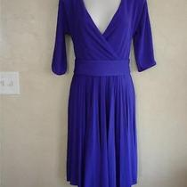 Vtg Bcbg Maxazria Purple Evening Dress Small Pleated Skirt Retro Polyester Nice Photo