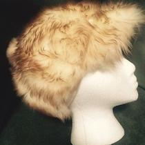 Vtg Beautiful Tuscan Lamb Skin Shaggy Fur Women's Cossack Hat Warm Italy Photo