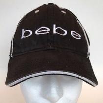 Vtg Bebe Logo Black & White Baseball Cap Hat Youth Size Adjustable  Photo