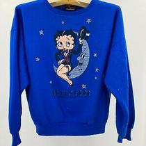 Vtg- Betty Boop- Small Blue 1984 80's King Syndicate Sweatshirt Top Photo
