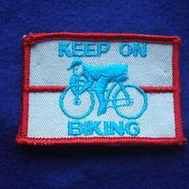 Vtg Bicycle Jean Jacket Bike Vest Shirt T Glove Boot Helmet Bag Wallet Cap Patch Photo