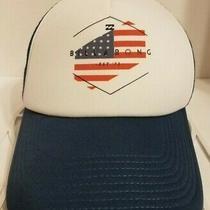Vtg Billabong American Flag Mesh Snapback Trucker Hat Photo