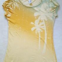Vtg Billabong Yellow Gold Palm Trees Surf S M Top T Shirt Tee Festival 90's Y2k Photo