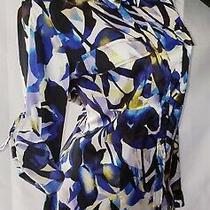 Vtg Calvin Klein Satin Shine Button Up Secretary Office Blouse Top Shirt Sz L Photo