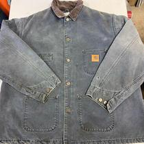 Vtg Carhartt Charcoal Chore Coat/jacket Made in Usa Size 2xl Photo