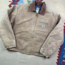 Vtg Carhartt Detroit Blanket Lined Full Zip Work Jacket Size 2xl Made in Usa Photo