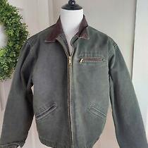 Vtg Carhartt Distressed Jacket Mens Size 2xl Blanket Lined Coat J97 Mos Usa  Photo
