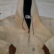 Vtg Carhartt Flannel Lined Duck Distressed Chore Barn Coat Jacket Xl Vintage Usa Photo