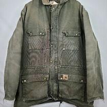 Vtg Carhartt Usa Size 2xl Mens Union Blanket Lined Olive Barn Chore Field Jacket Photo