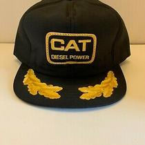 Vtg Cat Diesel Power Gold Leaf Patch Trucker Hat Made in Usa Photo