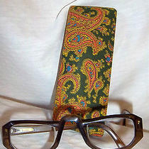 Vtg Christian Dior Half Reading Eye Glasses Olive Green Excellent Condition Photo