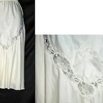Vtg Christian Dior Ivory Silk Half Slip S Photo
