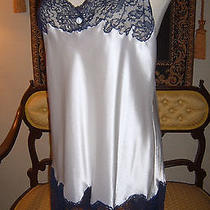 Vtg Christian Dior Lingerie Harlow Liquid Satin Negligee Nightgown French Lace M Photo
