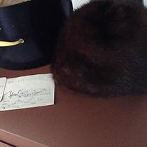 Vtg Christian Dior Ranch Mink Hat W/receipt & Original Box Photo