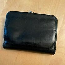 Vtg Coach Black Leather Snap Closure Kisslock Coin Purse Wallet Photo