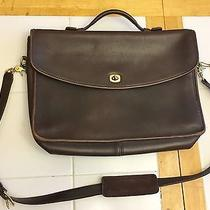 Vtg Coach Glove Tanned Leather Briefcase Messenger Bag Brown Patch G7c-5265 Usa Photo