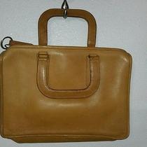 Vtg Coach Leatherware New York Nyc Usa Tan Attache Briefcase Laptop Rustic Bag Photo