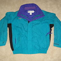 Vtg Columbia Bugaboo Jacket Men's Medium Green Ski Radial Sleeve Shell Only 90's Photo