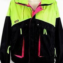 Vtg Columbia Clinton Jacket Radial Sleeves Men's Heavy Windbreaker Zockets Xl Photo