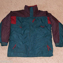 Vtg Columbia Jacket Large L Men's Gizzmo 3 in 1 Interchange Radial Sleeve Tall  Photo