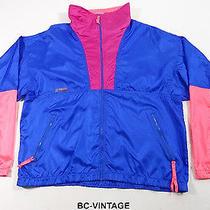 Vtg Columbia Sportswear Neon Colorblock Radial Sleeve Windbreaker Jacket 21749 Photo