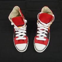 Vtg Converse Chuck Taylor Hi Top Sneakerskansas City Chiefs Color Photo