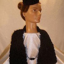 Vtg Curly Lamb Fur Wrap/scarf With Curly Lamb Fur Hat Photo