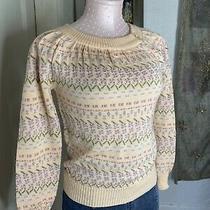 Vtg Designations 50s 60s Blush Pink Metallic Sweater Sz S Pinup Spring Kawaii Photo