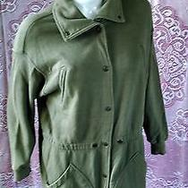 Vtg Dkny Army Green Pea-Coat Car Coat Cinch Jacket Grunge Punk Steam-Punk  Sz  M Photo