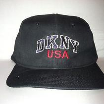 Vtg Dkny Usa New York Snapback Hat Cap Rare 90s Donna Karan Hip Hop Rap Urban Photo