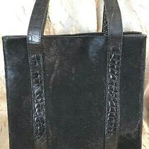 Vtgdonald J Plineritalyblk Croc Embossed Leather/calf Hairshoulder Bag/purse Photo