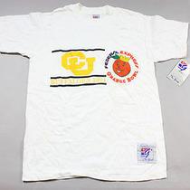 Vtg Ds Cu Colorado Buffaloes 1991 Federal Express Orange Bowl M T Shirt the Game Photo