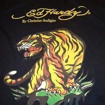 Vtg Ed Hardy Hollywood Sz Xl Black T-Shirt Tiger Graphic Artwork Design Photo