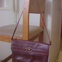 Vtg Etienne Aigner Leather Burgandy Oxblood Shoulder Bag Purse Photo