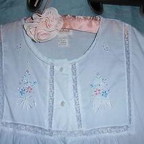 Vtg Evc Barbizon 2 Pc Blue Blush Short Cotton/poly Nightgown Robe Floral L P156 Photo