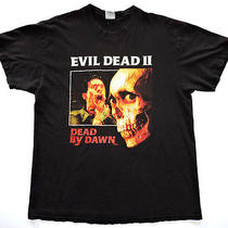 Vtg Evil Dead 2 by Dawn Movie Film Promo T-Shirt Sam Raimi Campbell Horror Punk Photo