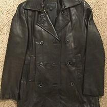 Vtg Express  Jacket Brown Genuine Leather Womens Sz S Thinsulate 3m Lined Coat Photo