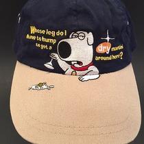Vtg Family Guy Tv Show Brian Griffin Leg Hump Dog Martini Hat Cap Blue Cotton Photo