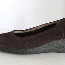 Vtg Ferragamo Gum Sole Dark Brown Suede Comfort Wedge Slip on Shoes 7 M B Photo
