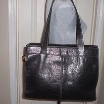Vtg Fossil Large Leather Book Work Laptop Tote Carryall Shopper Shoulder Bag Photo