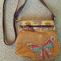 Vtg Fossil Small Spring Summer Butterfly Retro Cross Body Pouch Purse Bag Photo