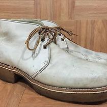 Vtg Frye Lace Up Ankle Boot 70's Black Label Gum Sole Men's 9.5 Leather Usa Photo