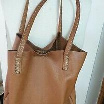 Vtg Frye Lrg Cognac Pebbled Leather Hobo Tote Removable Pocket 14tx5x13